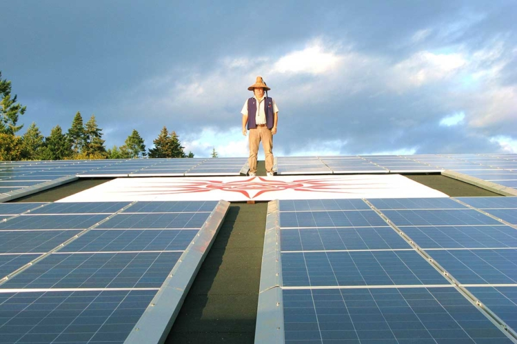 Chief-Standing-on-Solar-roof