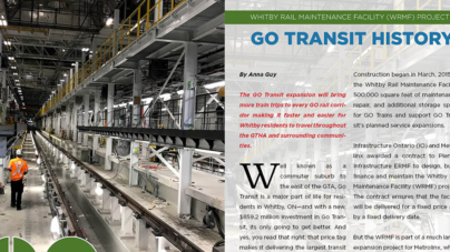 Whitby Rail Maintenance Facility (WRMF) project