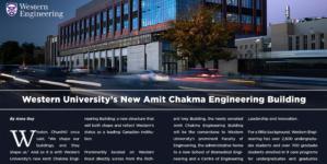 Western University's new Amit Chakma Engineering Building