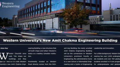 Western University's new Amit Chakma Engineering Building