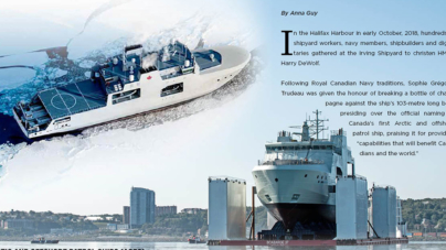 Future HMCS Harry DeWolf – Arctic and Offshore Patrol Ships (AOPS)