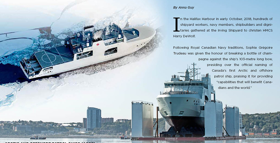 Future HMCS Harry DeWolf - Arctic and Offshore Patrol Ships (AOPS)