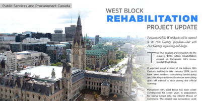 West Block Rehabilitation Project Update