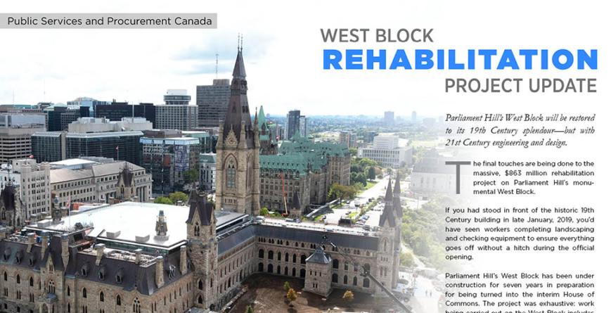 West Block Rehabilitation Project Update