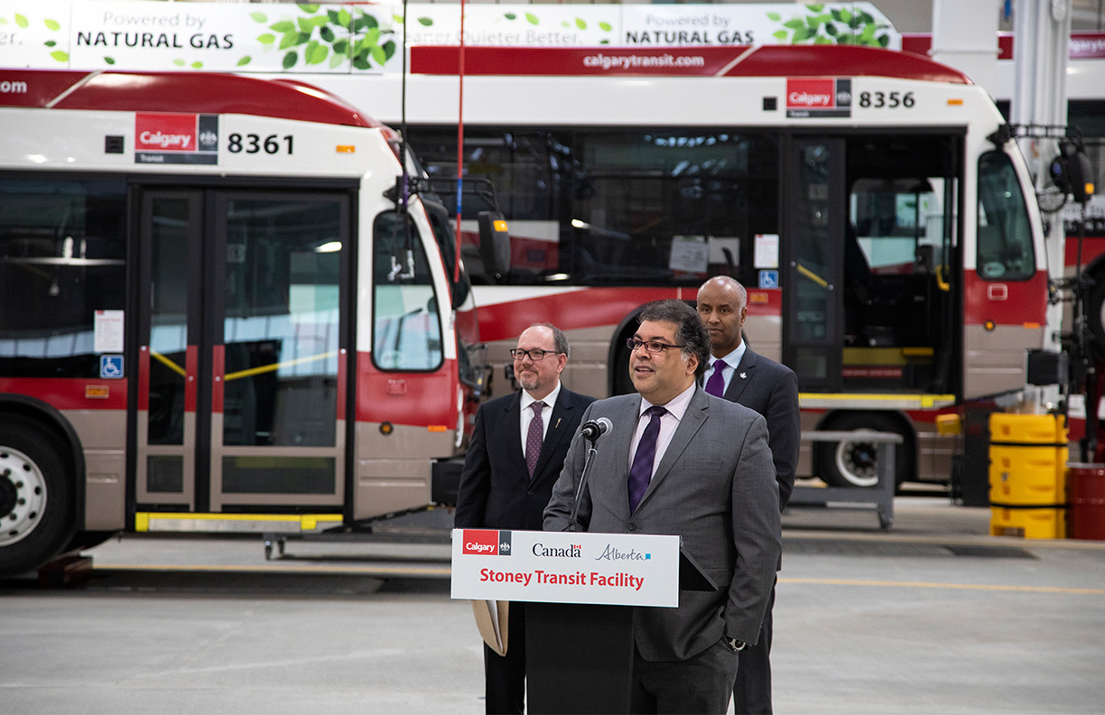 Calgary's Stoney Compressed Natural Gas Bus Storage and Transit Facility