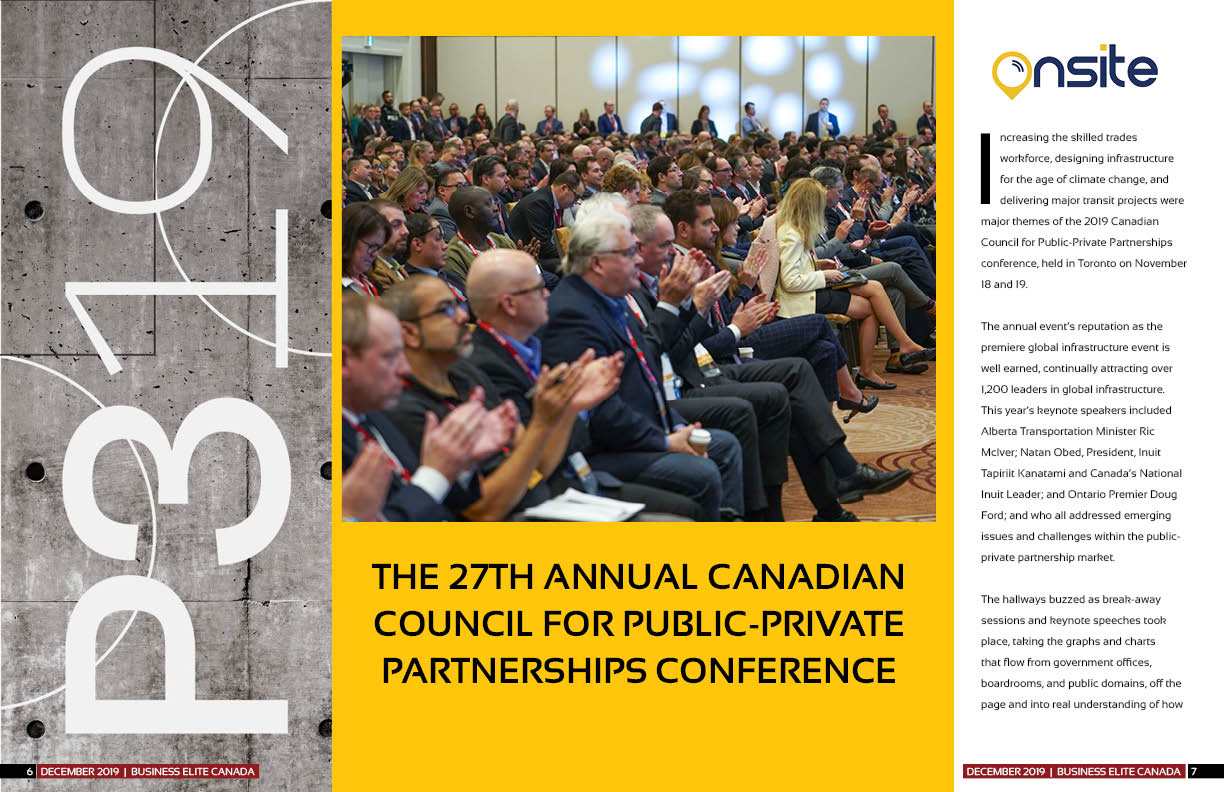 The 27th annual Canadian Council for Public-Private Partnerships Conference