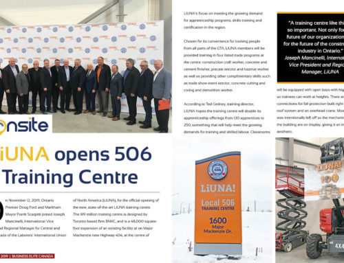 LiUNA opens 506 Training Centre