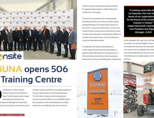 LiUNA opens 506 Training Centre