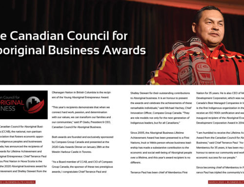 The Canadian Council for Aboriginal Business Awards