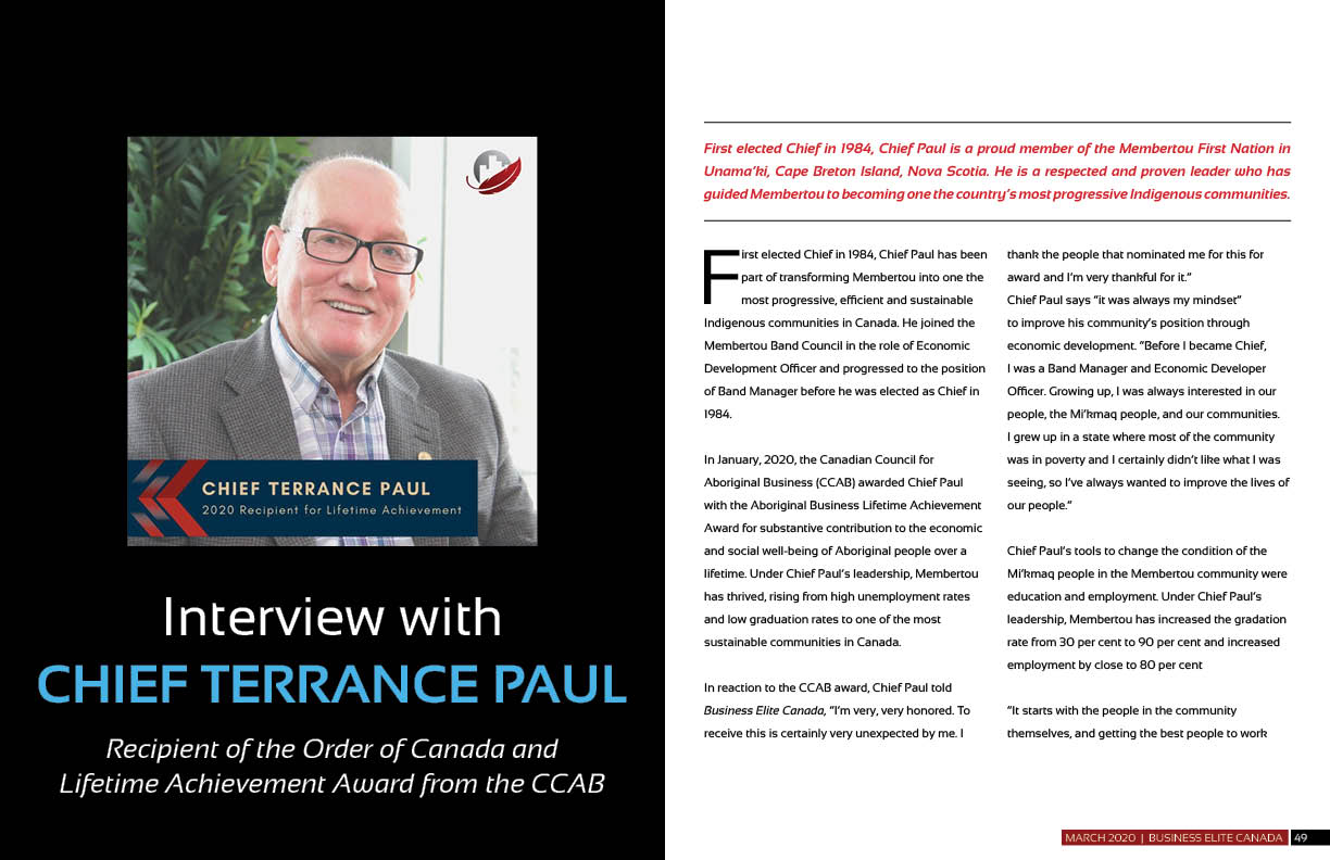 Interview with Chief Terrance Paul