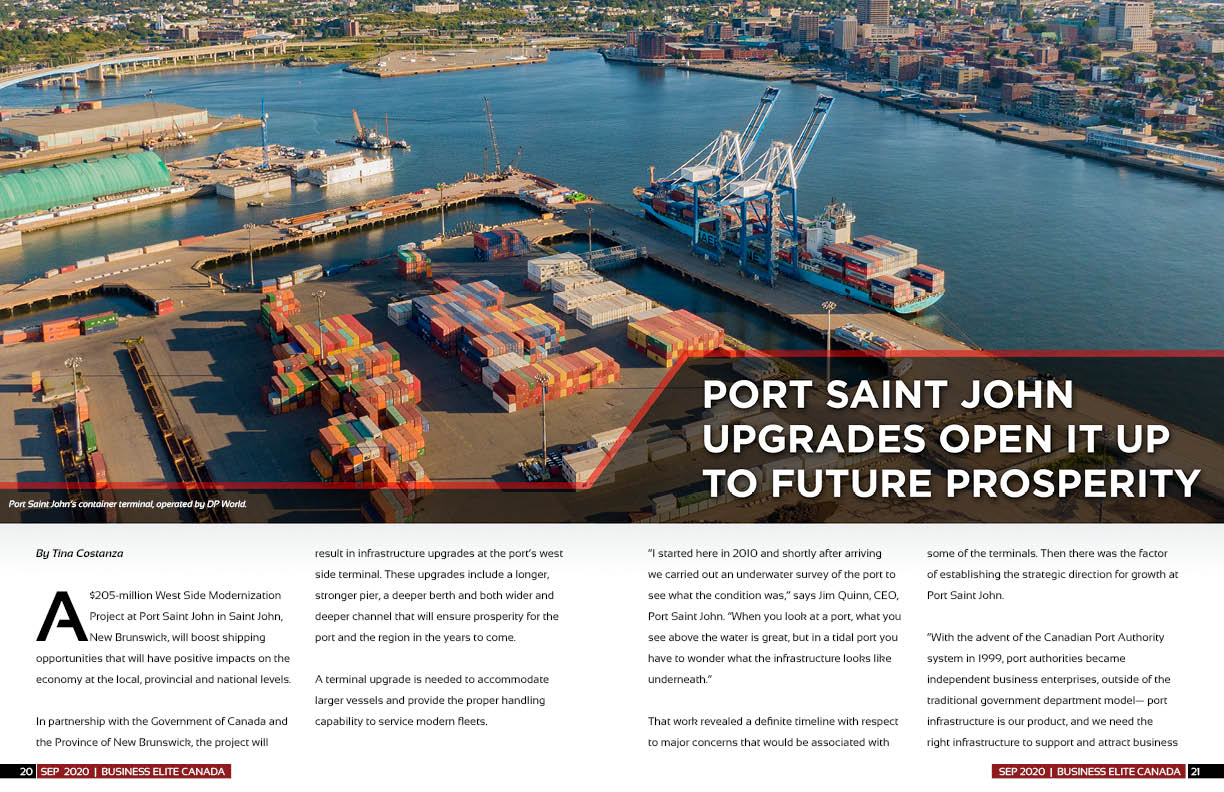 Port Saint John's $205 million Port Modernization Project