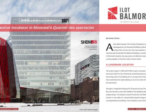 Société d'habitation et de développement de Montréal (SHDM) – Îlot Balmoral Project