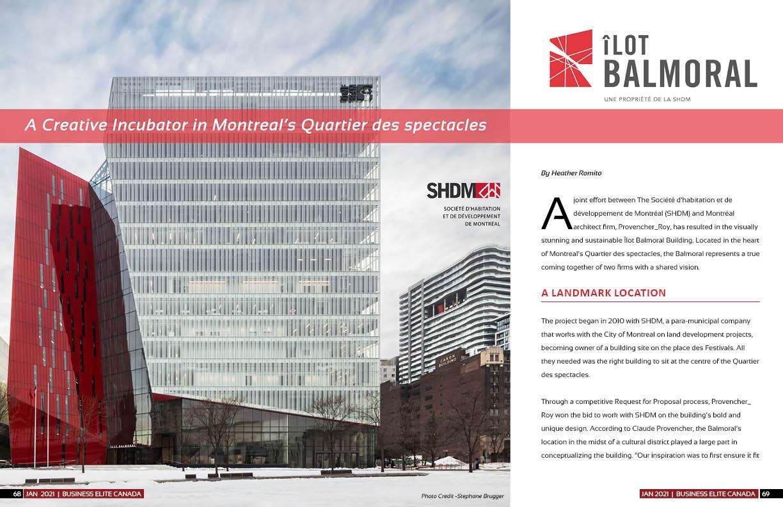 Société d'habitation et de développement de Montréal (SHDM) - Îlot Balmoral Project