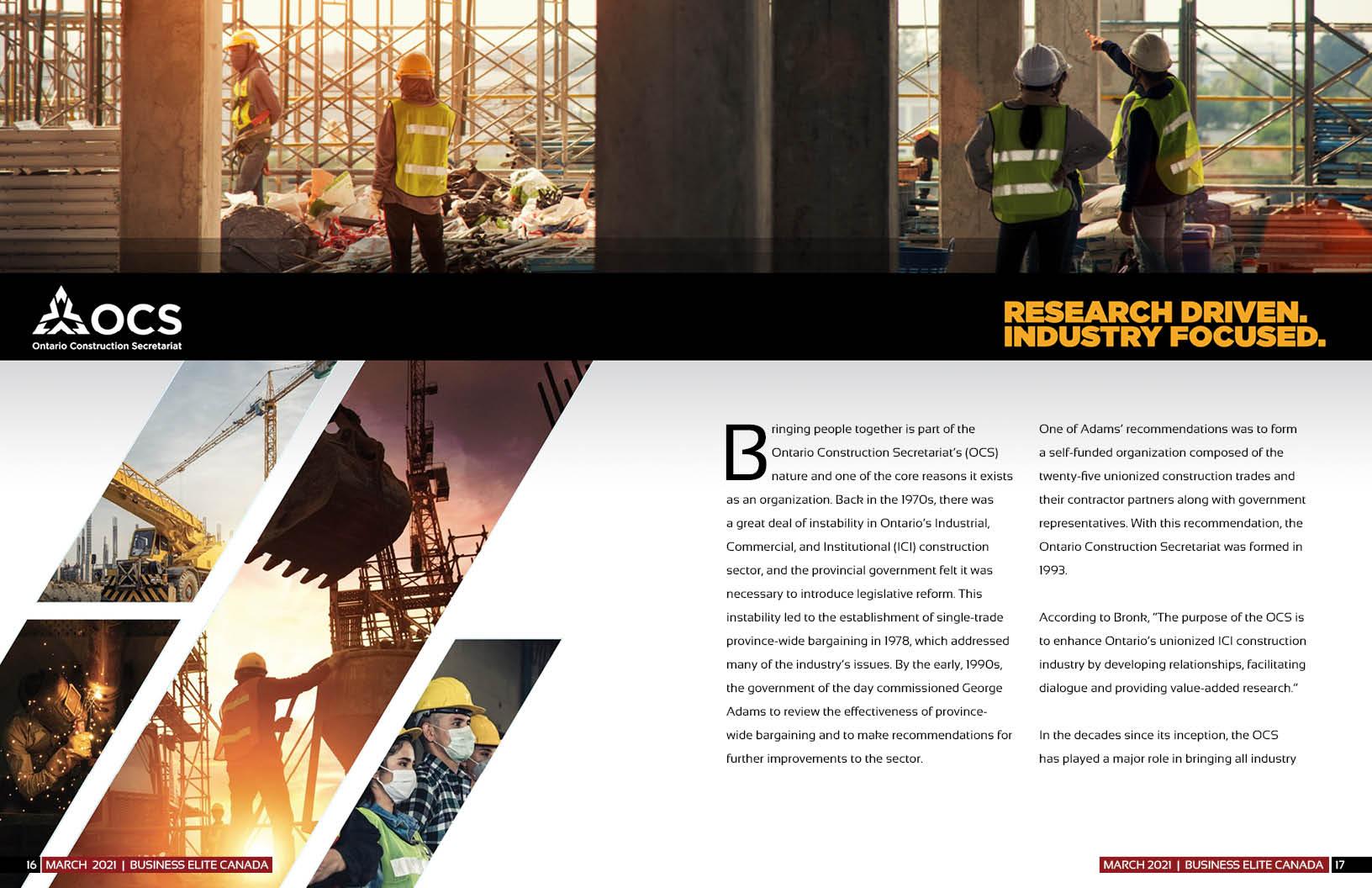 Ontario Construction Secretariat (OCS)