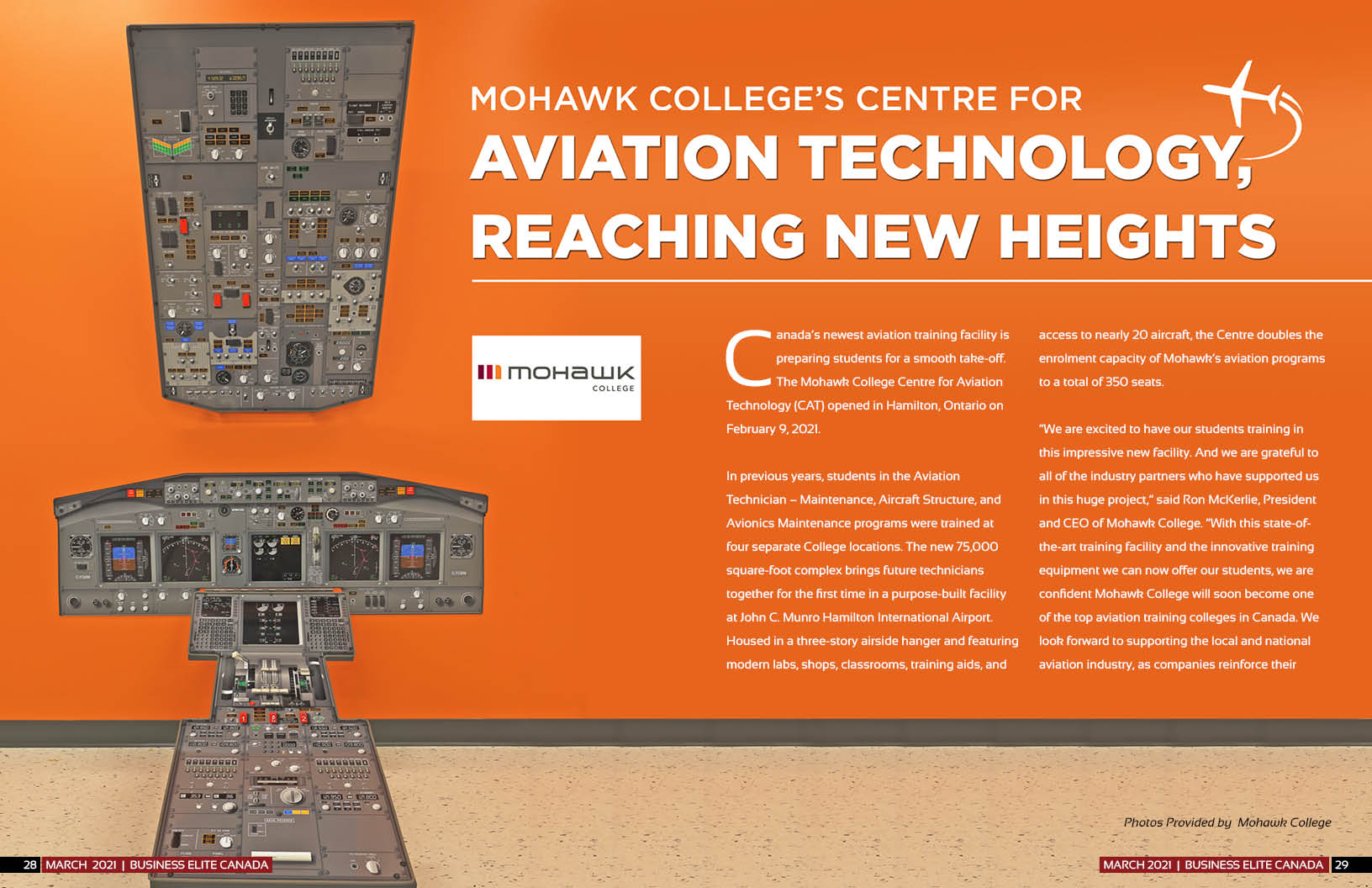 Mohawk College New Centre For Aviation Technology